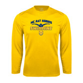 Syntrel Performance Gold Longsleeve Shirt-Swim & Dive Butterfly Swimmer