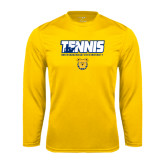 Syntrel Performance Gold Longsleeve Shirt-Tennis Player