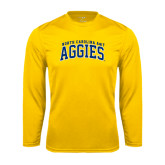 Syntrel Performance Gold Longsleeve Shirt-Arched North Carolina A&T Aggies