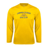Performance Gold Longsleeve Shirt-Aggie Pride