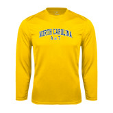 Performance Gold Longsleeve Shirt-Arched North Carolina A&T