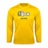 Syntrel Performance Gold Longsleeve Shirt-AT-The Lock-Aggie Athletics Get Locked In