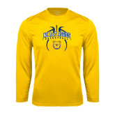 Syntrel Performance Gold Longsleeve Shirt-Basketball in Ball