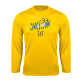 Performance Gold Longsleeve Shirt-Basketball Pride