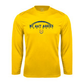 Syntrel Performance Gold Longsleeve Shirt-Arched Football