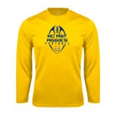 Performance Gold Longsleeve Shirt-Tall Football