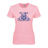 Ladies Pink T-Shirt-NC A&T Aggies