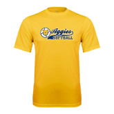 Performance Gold Tee-Softball Script