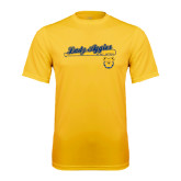 Performance Gold Tee-Softball Script on Bat
