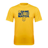 Performance Gold Tee-Tennis Game Set Match