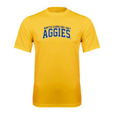 Performance Gold Tee-Arched North Carolina A&T Aggies