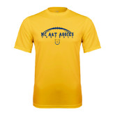 Performance Gold Tee-Arched Football