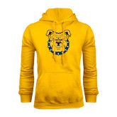 Gold Fleece Hood-Bulldog Head