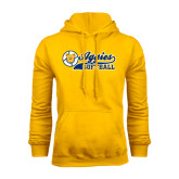 Gold Fleece Hoodie-Softball Script