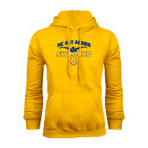 Gold Fleece Hoodie-Swim & Dive Butterfly Swimmer