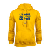 Gold Fleece Hoodie-Tennis Game Set Match
