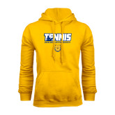 Gold Fleece Hood-Tennis Player