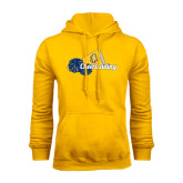 Gold Fleece Hoodie-Cheerleading Megaphone & Pom Poms