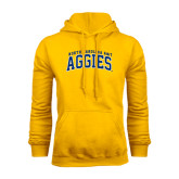 Gold Fleece Hoodie-Arched North Carolina A&T Aggies
