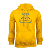 Gold Fleece Hood-Volleyball