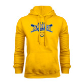 Gold Fleece Hood-Baseball Crossed Bats