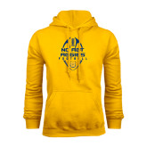 Gold Fleece Hood-Tall Football