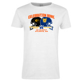 Ladies White T Shirt-Celebration Bowl - VS Design