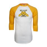 White/Gold Raglan Baseball T-Shirt-NC A&T Aggies