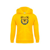 Youth Gold Fleece Hoodie-Bulldog Head