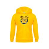 Youth Gold Fleece Hoodie-Bulldog Head