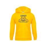 Youth Gold Fleece Hoodie-Football