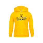 Youth Gold Fleece Hood-Volleyball Can You Dig It