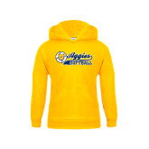 Youth Gold Fleece Hoodie-Softball Script