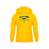 Youth Gold Fleece Hoodie-Swim & Dive Butterfly Swimmer