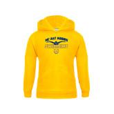 Youth Gold Fleece Hoodie-Swim & Dive Butterfly Swimmer