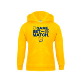 Youth Gold Fleece Hoodie-Tennis Game Set Match