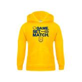 Youth Gold Fleece Hoodie-Tennis Game Set Match