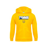 Youth Gold Fleece Hoodie-Tennis Player