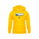 Youth Gold Fleece Hoodie-Tennis Player