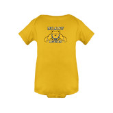 Gold Infant Onesie-NC A&T Aggies