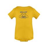 Gold Infant Onesie-NC A&T Aggies