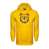 Under Armour Gold Performance Sweats Team Hoodie-Bulldog Head