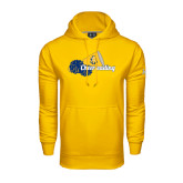 Under Armour Gold Performance Sweats Team Hoodie-Cheerleading Megaphone & Pom Poms
