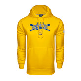 Under Armour Gold Performance Sweats Team Hoodie-Baseball Crossed Bats