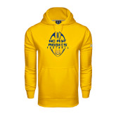 Under Armour Gold Performance Sweats Team Hood-Tall Football