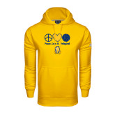 Under Armour Gold Performance Sweats Team Hood-Peace Love Volleyball