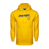Under Armour Gold Performance Sweats Team Hoodie-Softball Script on Bat