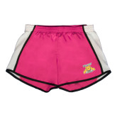 Ladies Fuchsia/White Team Short-NC A&T Aggies