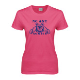 Ladies Fuchsia T Shirt-NC A&T Aggies