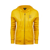ENZA Ladies Gold Fleece Full Zip Hoodie-NC A&T Aggies